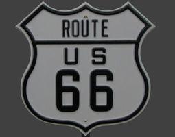 route 66 sign 3D asset