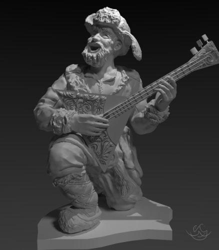 old musician  for 3d printing 3d model stl 1
