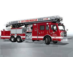 3D asset realtime Special Fire-Rescue vehicle