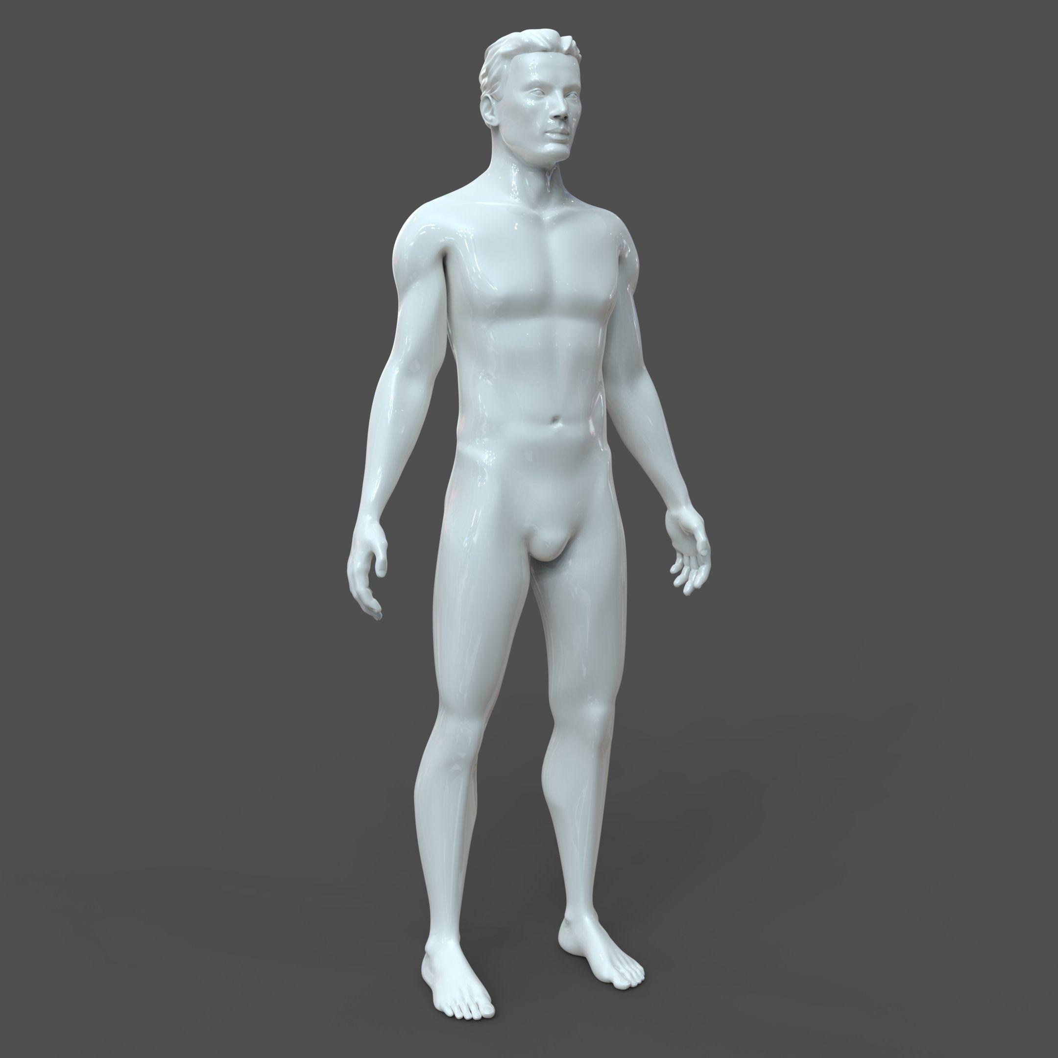 CAD-friendly Male Model M2P1D0V1