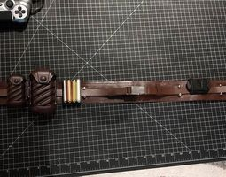 Jedi Belt pouch set and clip from STAR 3D print model