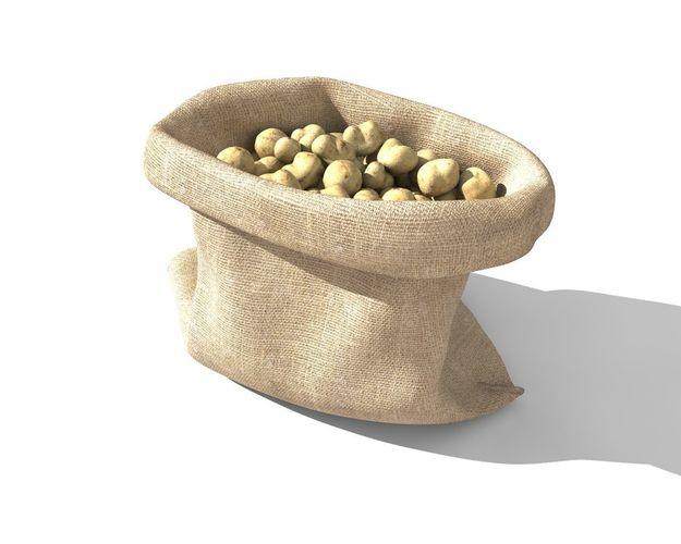potato sack 3d model animated obj mtl 3ds fbx c4d stl 1