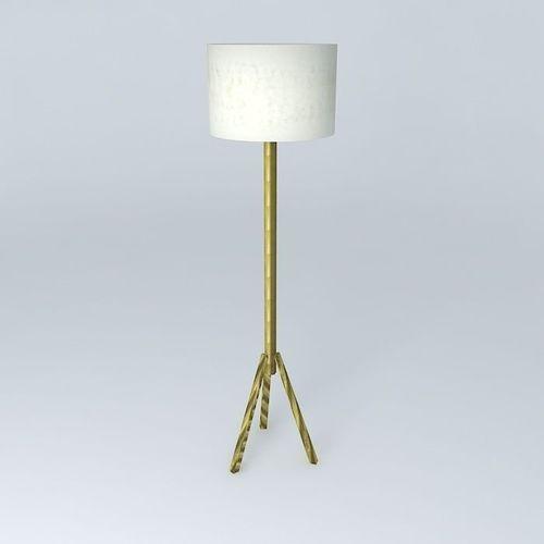 Floor lamp free 3d model max obj 3ds fbx stl dae for Floor lamp 3ds max free model