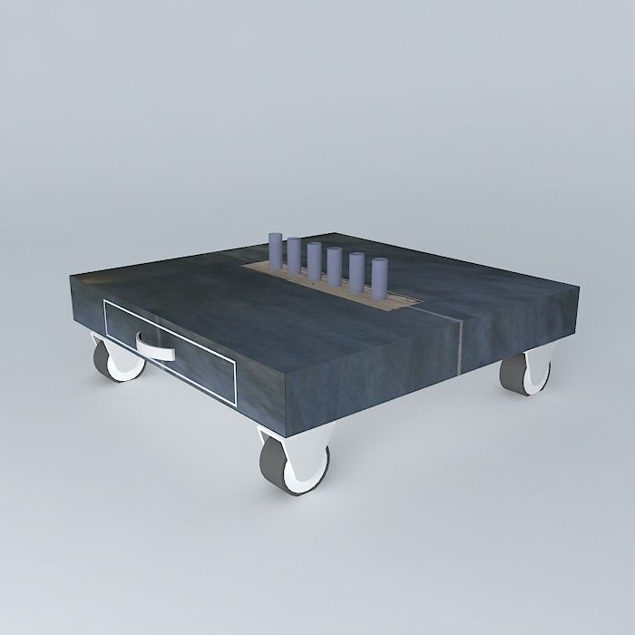 Table De Jardin Composite.Table De Jardin In Out 3d Model
