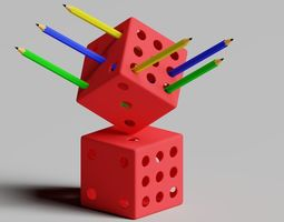 Pen Holder - Dice 3D printable model