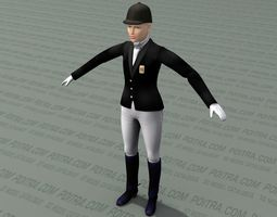 3D model Woman Dressage Competition Rider - Adult Female -