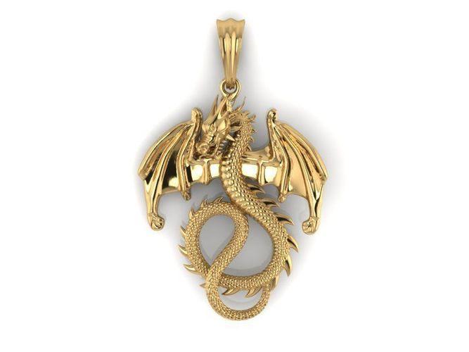 Dragon wing pendant