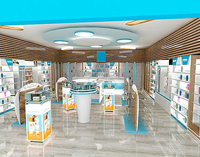 pharmacy interior design - form stand 3D model