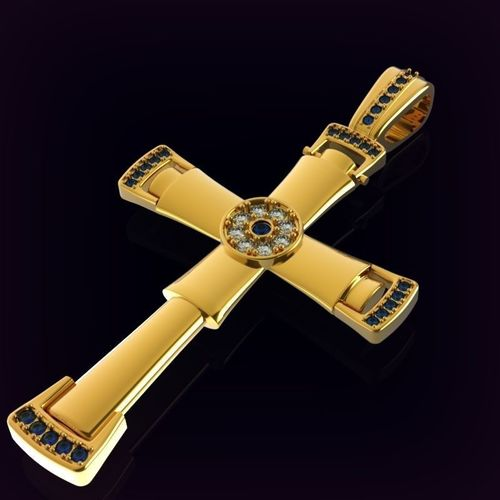 cross encrusted with gems 3d model obj mtl 3ds fbx stl 3dm 1