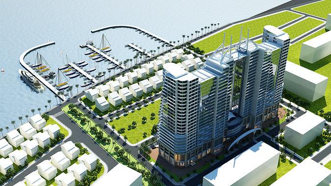 3d models skyscraper hotel building 3d model max obj mtl fbx 1