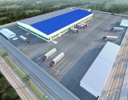3D Vegetable store Hangar base