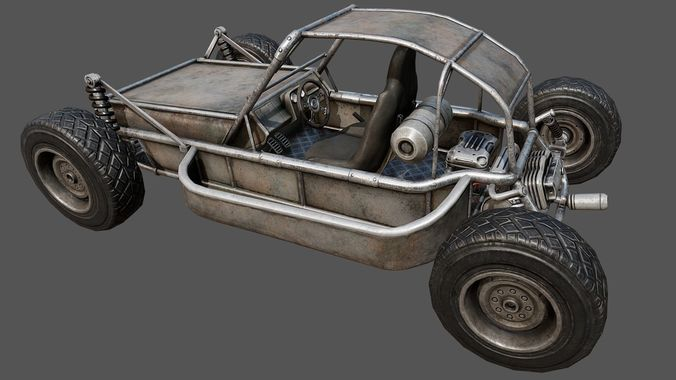 buggy pbr 3d model low-poly max obj mtl 3ds fbx dae tga 1