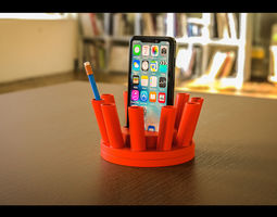 The Thorn Rotatable Pen Holder 3D print model