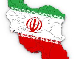 3d Political Map of Iran