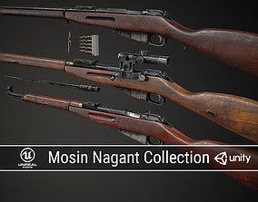 3D model PBR Soviet Mosin Nagant Collection