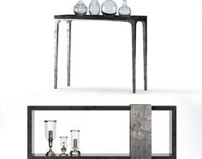 3D model Bernhardt Linea Console Tables