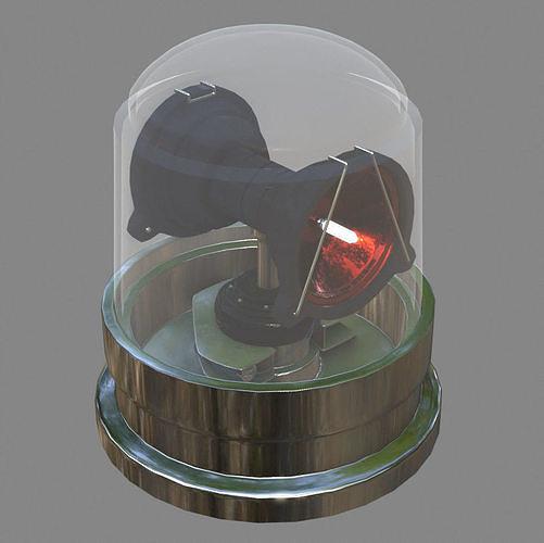 warning light 3d model obj mtl 1