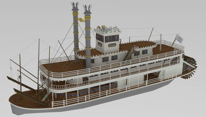 steamboat st louis 3d model max 1