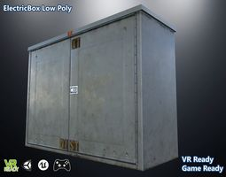 Electric Box Low Poly 3D asset
