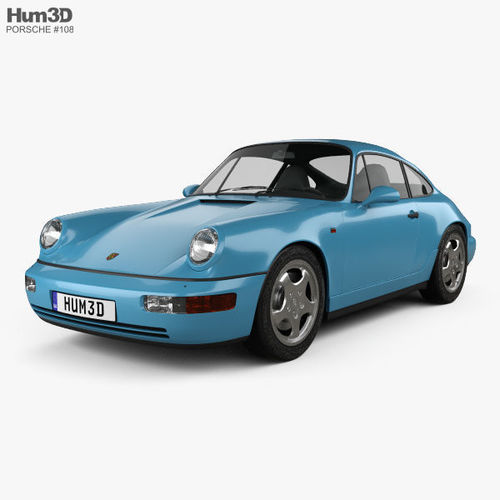 porsche 911 carrera rs coupe 964 1992 3d model max obj mtl 3ds fbx c4d lwo lw lws 1