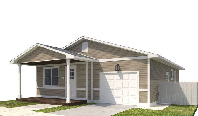 house-035 3d model max obj mtl 3ds fbx dwg 1