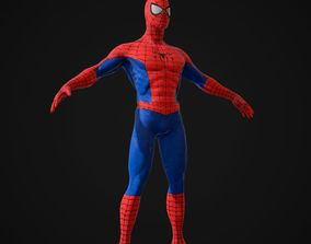 Spiderman 3D model game-ready action