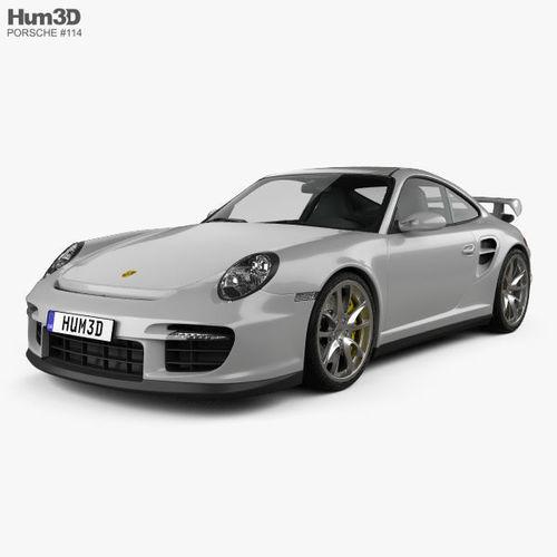 porsche 911 gt2 997 2007 3d model max obj mtl 3ds fbx c4d lwo lw lws 1