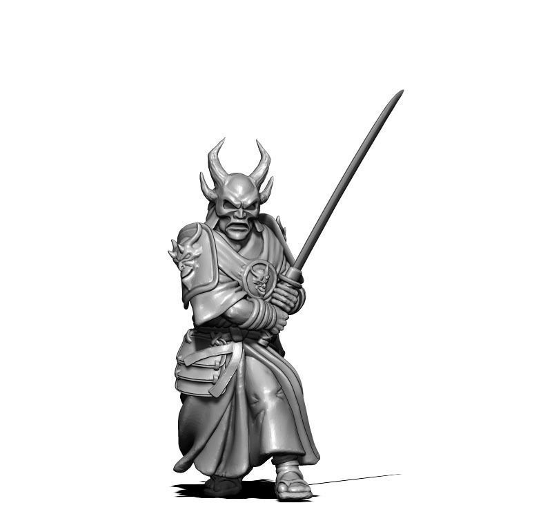Samurai 3D print model - 35mm scale
