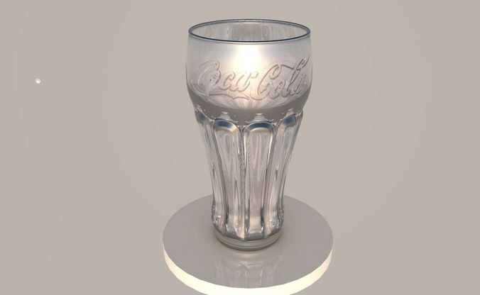 glass of cocacola glass 3d model obj mtl 3ds fbx c4d dae X 1