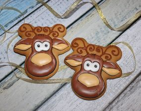 New Year Cookies 3D