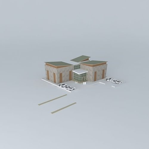 3d Warehouse With Office Cgtrader