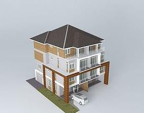 3D Duplex city house