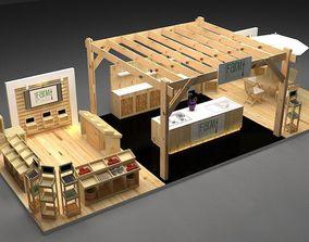 3D model Farm Booth exhibition