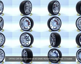 ORTAS CAR RIM 41-42-43-44-45 GAME READY RIM AND TIRE 3D