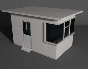 Security Booth 3D asset game-ready