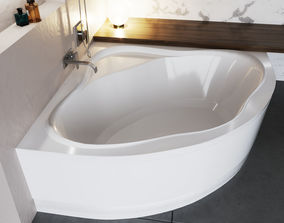 Acrylic corner bath NewDay 3D model