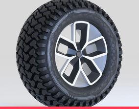 Offroad Tire Wheel Design Rim 3D model