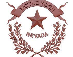 Nevada flag 3D printable model
