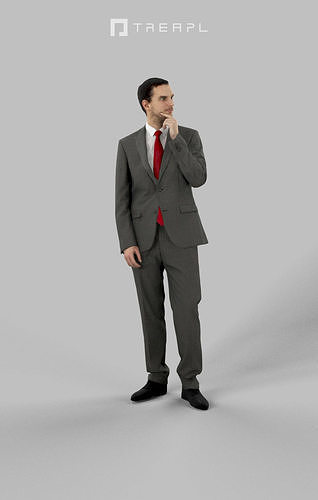FREE SCANNED Man Business Man Jest Standing Thinking