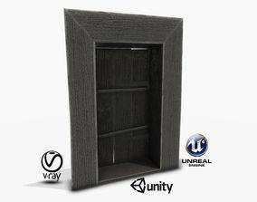 3D model Old Russian Door 01
