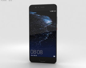 Huawei P10 Plus Graphite Black 3D