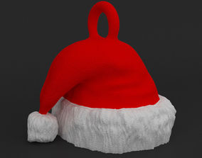 santa-ornament Printable Santa Hat Pendant - Ornament