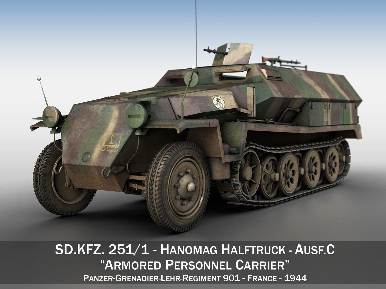 SDKFZ 251 - Ausf C - Half-track - PGLR901
