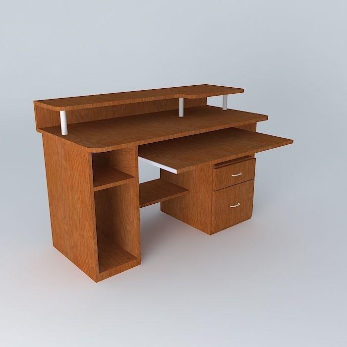 modern computer desk 3d model max obj 3ds fbx stl dae 1 - Modern Computer Desk