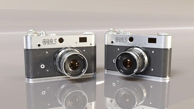 realistic vintage camera 3d model low-poly fbx blend unitypackage prefab 1