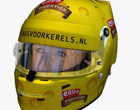 Tom Coronel Cheese helmet 3D asset