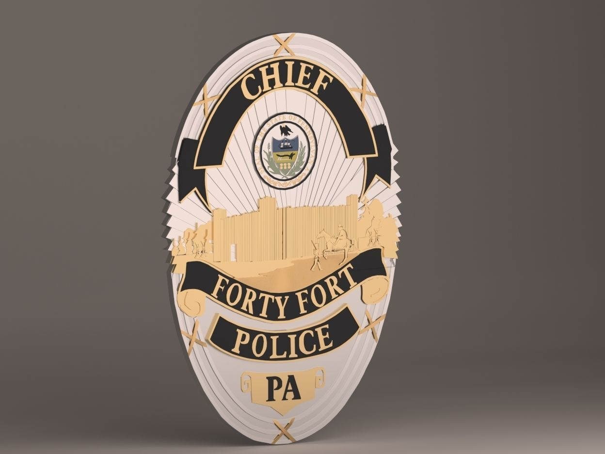 picture about Printable Police Badge called 40 Fort Law enforcement Badge 3D Print Design