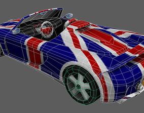 Cartoon Racing Car Low-poly 3D model