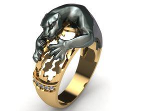 panther ring puma 3D print model