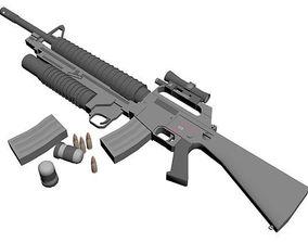 M-16 weapon 3D